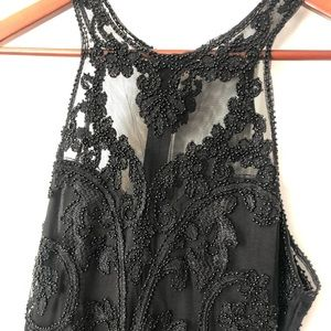 Lace Beaded Formal Dress